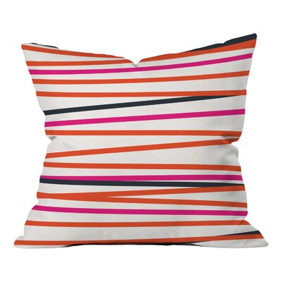 Banda Stripe Warm Indoor/Outdoor Throw Pillow