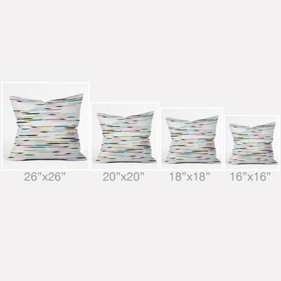 Banda Outdoor Throw Pillow Size: 16 H x 16 W x 4 D