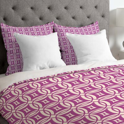 Banda Lightweight Desert Twilight Duvet Cover Size: Twin, Color: Pink