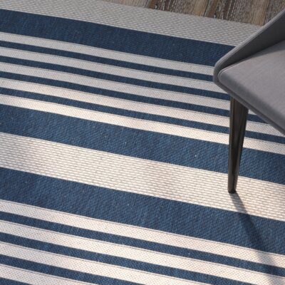 Sophina Navy/Beige Indoor/Outdoor Area Rug Rug Size: Rectangle 27 x 5