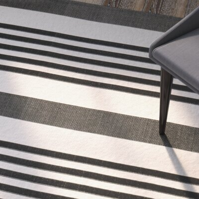 Sophina Black Indoor/Outdoor Area Rug Rug Size: 67 x 96