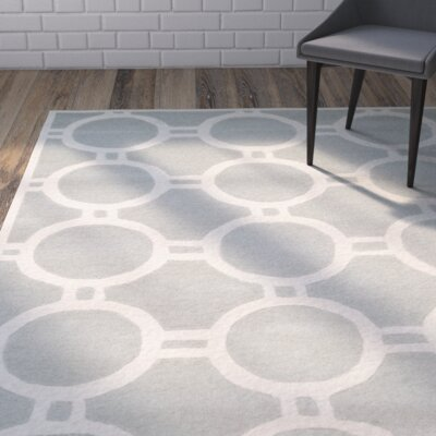 Averett Grey / Ivory Rug Rug Size: Rectangle 5 x 8
