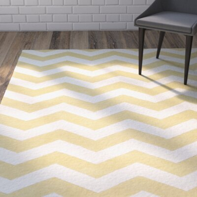 Averett Light Gold / Ivory Rug Rug Size: Square 5