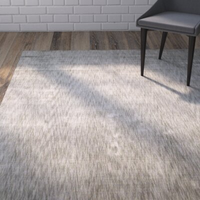 Metro Hand Woven Gray Area Rug Rug Size: Rectangle 56 x 86