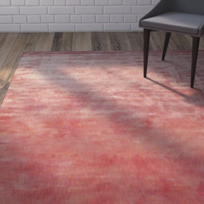 Metro Hand Woven Rust/Cream Area Rug Rug Size: Rectangle 4 x 6