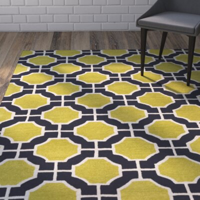 Kiuchi Lime/Navy Area Rug Rug Size: Rectangle 9 x 13