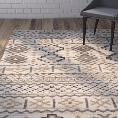 Eldert Hand-Knotted Beige Area Rug Rug Size: Rectangle 8 x 10