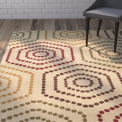 Emmett Beige/Red Area Rug Rug Size: Rectangle 710 x 10