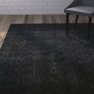 Metro Charcoal Area Rug Rug Size: Rectangle 96 x 136