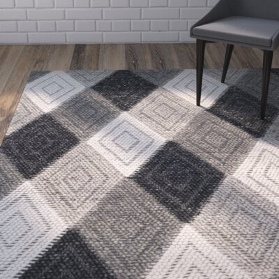 Rohan Hand-Tufted Anthracite Area Rug Rug Size: Rectangle 4 x 6