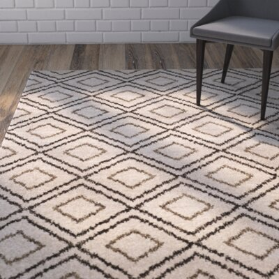 Electra Beige Area Rug Rug Size: Rectangle 9 x 12
