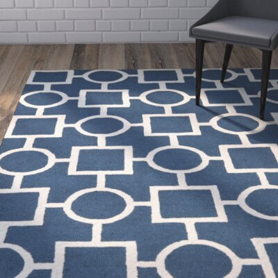 Harbin Blue Navy / Ivory Area Rug Rug Size: Rectangle 8 x 10