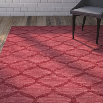 Murray Red Area Rug Rug Size: Rectangle 36 x 56