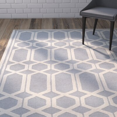 Harbin Hand-Tufted Gray/Ivory Area Rug Rug Size: Rectangle 8 x 10