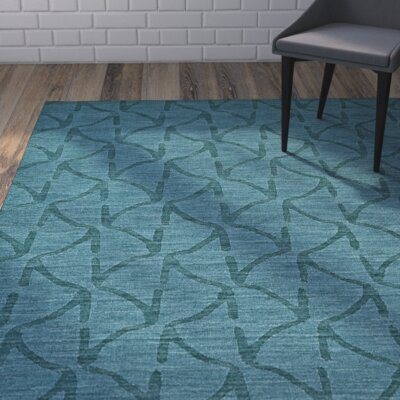Murray Teal Area Rug Rug Size: 36 x 56