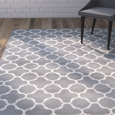 Averett Hand-Tufted Wool Dark Gray/Ivory Area Rug Rug Size: Rectangle 10 x 14