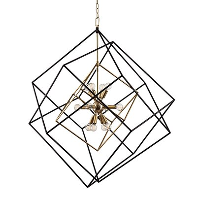 Ducan 12-Light Foyer Pendant Finish: Aged Brass