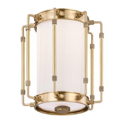 Burmeister 1 Light Flush Mount Finish: Aged Brass