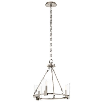 Ehlers 3 Light Candle Chandelier Finish: Classic Pewter