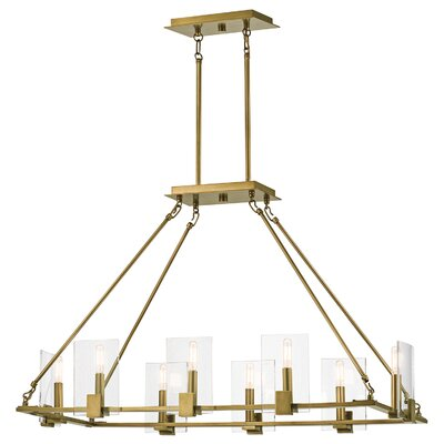 Earnhardt 8 Light Candle Chandelier Finish: Classic Pewter