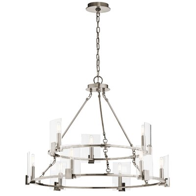 Domenech 9 Light Candle Chandelier Finish: Classic Pewter