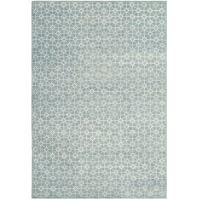 Darrow Hand-Knotted Blue Area Rug Rug Size: Rectangle 8 x 10