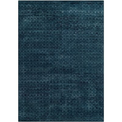 Darrow Hand-Knotted Navy Area Rug Rug Size: 6 x 9