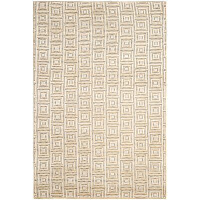 Darrow Hand-Knotted Sandstone Area Rug Rug Size: Rectangle 6 x 9