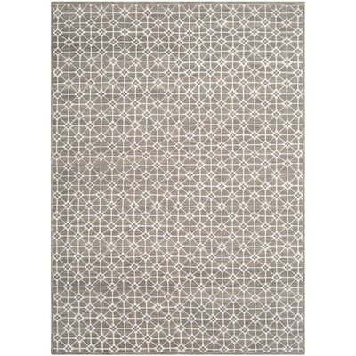 Darrow Hand-Knotted Light Brown Area Rug Rug Size: 6 x 9