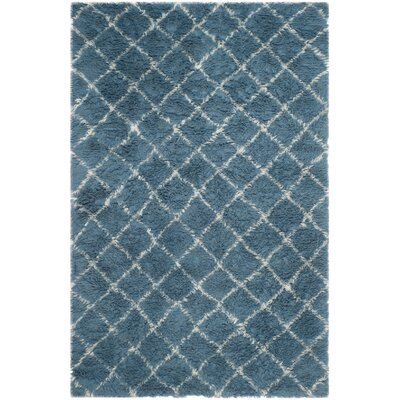 Lohan Hand-Woven Light Blue/Ivory Area Rug Rug Size: 6 x 9