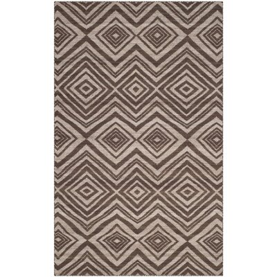 Sneyd Park Hand-Woven Brown Area Rug Rug Size: 4 x 6