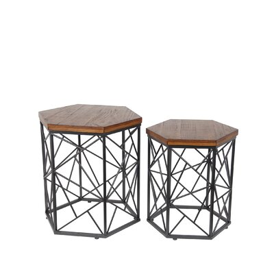 Corpus 2 Piece End Table Set Color: Medium Brown