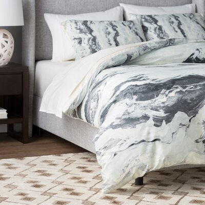 Boothby Mono Melt Duvet Cover Set Size: King