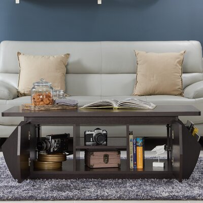 Suruga Storage Coffee Table with Magazine Rack