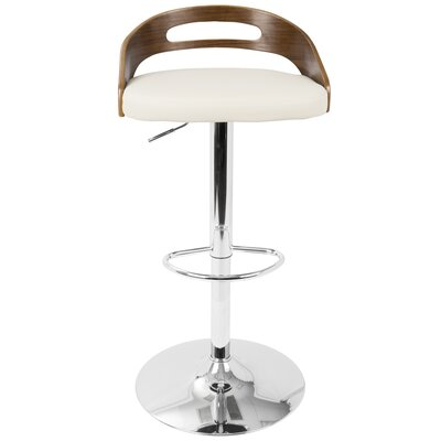 Zarate Swivel Bar Stool Upholstery: Cream