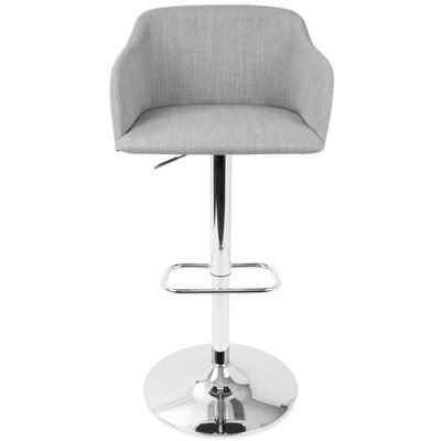 Truby 23.5 Swivel Bar Stool Upholstery: Light Gray