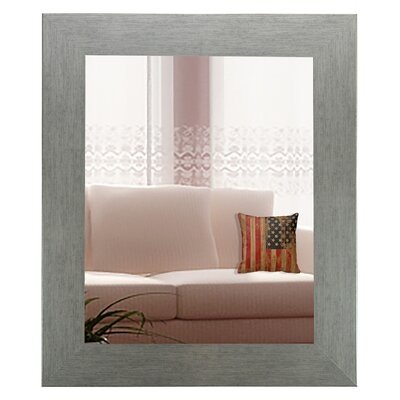 Brushed Silver Wall Mirror