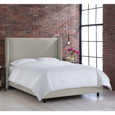 Settles Upholstered Panel Bed Size: Queen, Finish: Klein Dove