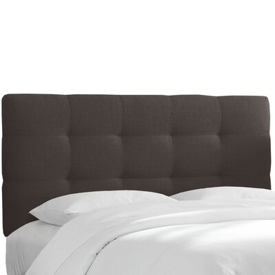 Setzer Tufted Linen Full Upholstered Panel Headboard