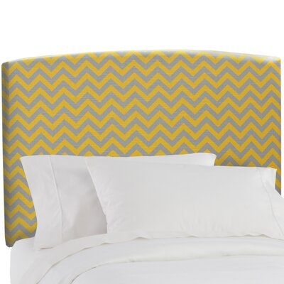 Severino Upholstered Panel Headboard Size: Full, Color: Zig Zag Ash-Corn Yellow