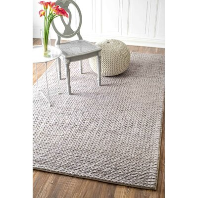 Touchstone Woolen Cable Hand-Woven Light Gray Area Rug