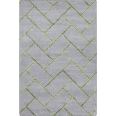 Oritz Hand Tufted Wool Gray Area Rug