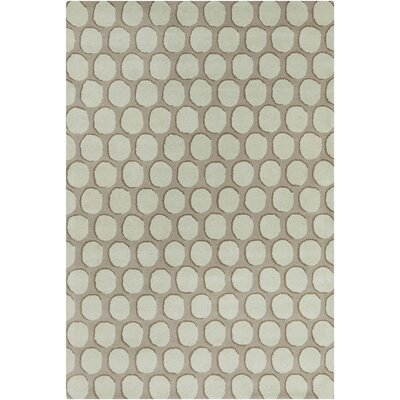 Oritz Hand Tufted Wool Green/Tan Area Rug
