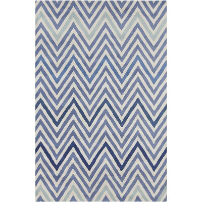 Oritz Hand Tufted Wool Cream/Blue Area Rug