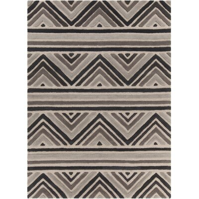 Oritz Hand Tufted Wool Brown/Cream Area Rug