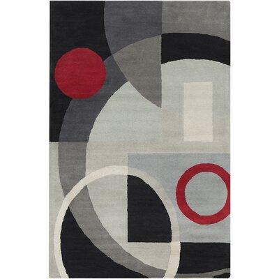 Oritz Hand Tufted Wool Grey/Black Area Rug
