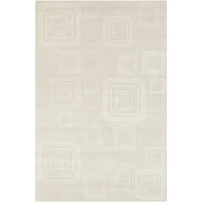 Oritz Hand Tufted Wool Beige/Cream Area Rug Rug Size: 8 x 10