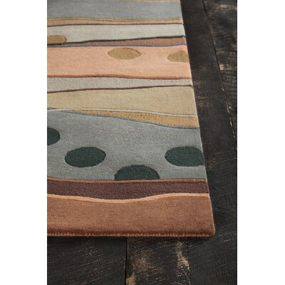 Pender Hand Tufted Contemporary Wool Orange/Gray Area Rug Rug Size: 5 x 7