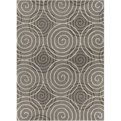 Phair Hand Tufted Rectangle Contemporary Gray Area Rug Rug Size: 7' x 10'