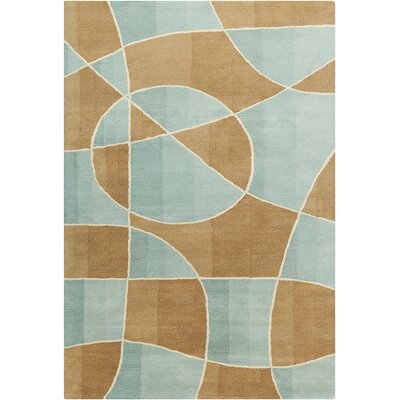 Oritz Hand Tufted Wool Brown/Blue Area Rug Rug Size: 5 x 76